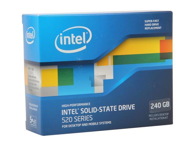 """Intel 520 Series Cherryville 2.5"""" 240GB SATA III MLC Internal Solid State Drive (SSD) SSDSC2CW240A3K5"""