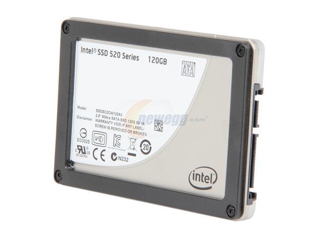 """Intel 520 Series Cherryville 2.5"""" 120GB SATA III MLC Internal Solid State Drive (SSD) SSDSC2CW120A310  - OEM"""