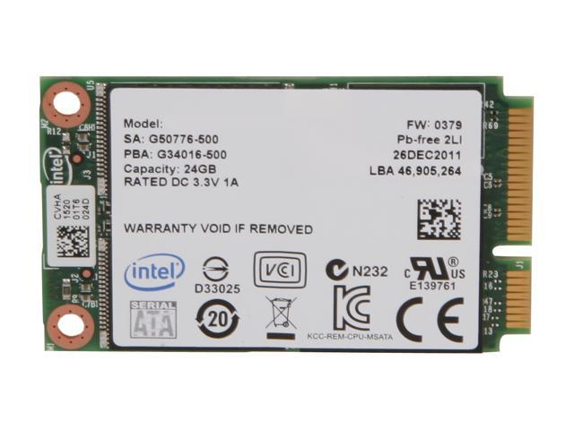Intel 313 Series Hawley Creek SSDMAEXC024G301 mSATA 24GB SATA II SLC Internal Solid State Drive (SSD)