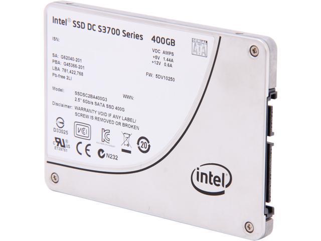"""Intel DC S3700 Series 2.5"""" 400GB SATA III MLC Internal Solid State Drive (SSD) SSDSC2BA400G301 - OEM"""
