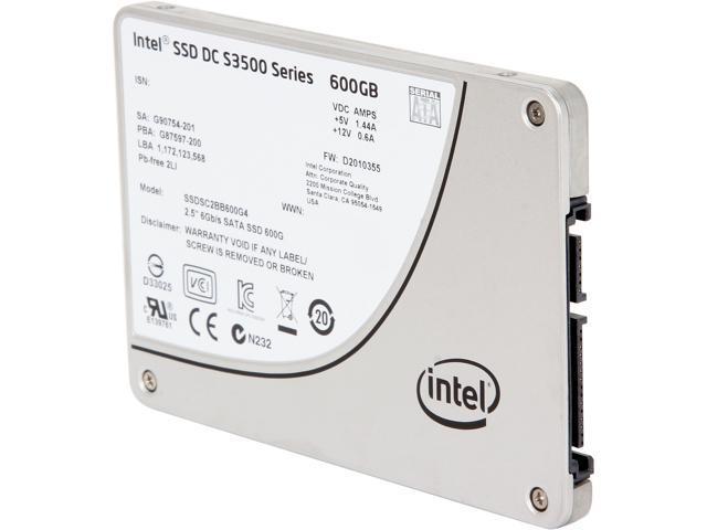 """Intel SSD DC S3500 Series 2.5"""" 600GB SATA III MLC Internal Solid State Drive (SSD) SSDSC2BB600G401 - OEM"""