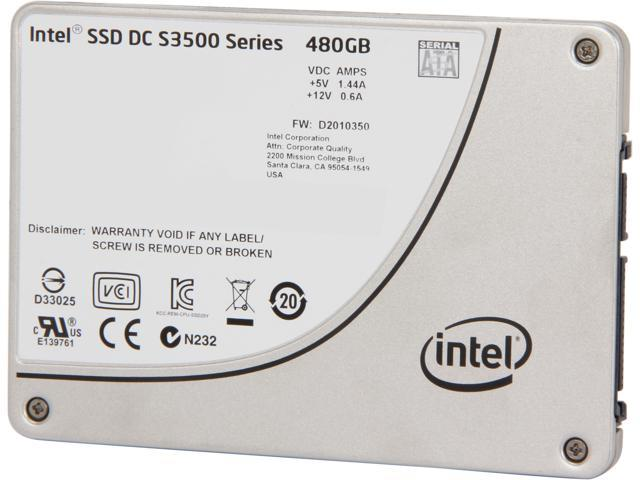 """Intel DC S3500  Series 2.5"""" 480GB SATA III MLC Internal Solid State Drive (SSD) SSDSC2BB480G401 - OEM"""