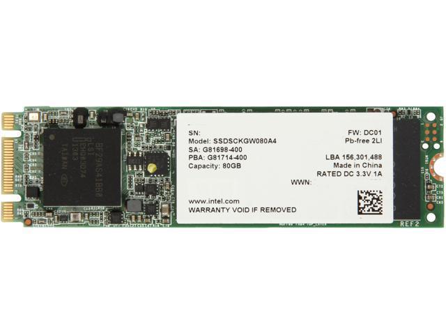 Intel 530 Series M.2 80GB SATA III MLC Internal Solid State Drive (SSD) SSDSCKGW080A401