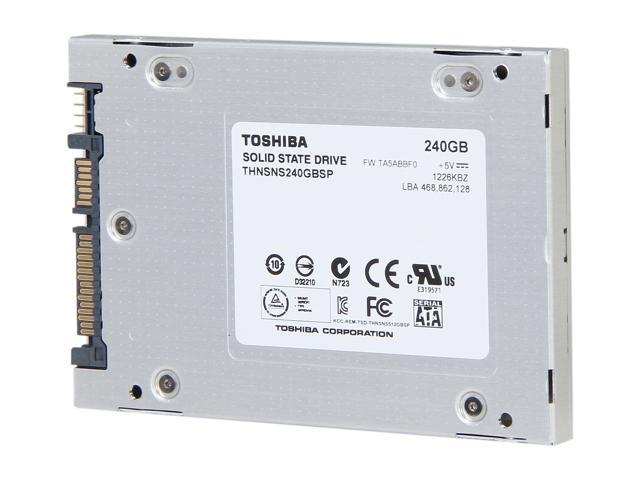 "Toshiba 2.5"" 240GB SATA III Internal Solid State Drive (SSD) PC Upgrade Kit HDTS124XZSWA"