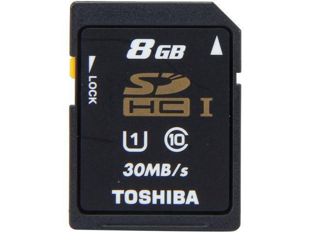 Toshiba 8GB Secure Digital High-Capacity (SDHC) Flash Card Model PFS008U-1DCK