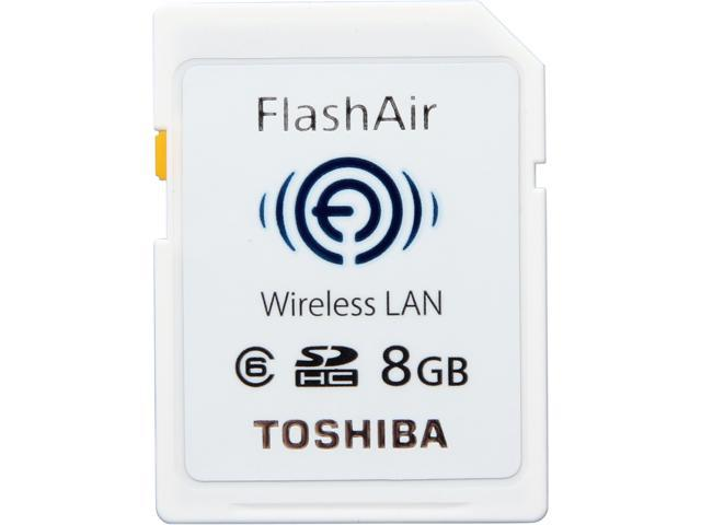 Toshiba FlashAir 8GB Wireless Flash Memory SD Card 050332409323