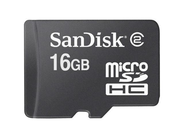 SanDisk 16GB microSDHC Flash Card Model SDSDQ-016G-P36A
