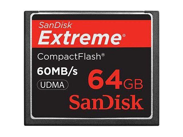 SanDisk Extreme 64 GB CompactFlash (CF) Card - 1 Card