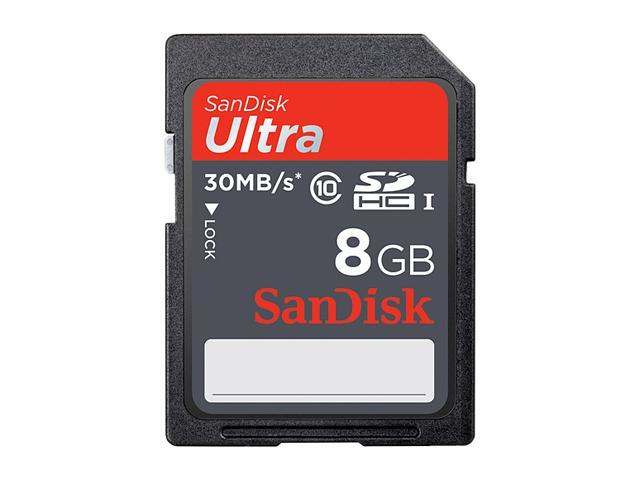 SanDisk 8GB Ultra SDHC UHS-I Card - Class 10 30MB/s
