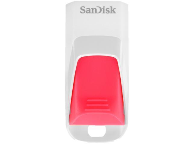SanDisk Cruzer Edge 8 GB USB 2.0 Flash Drive - White, Pink