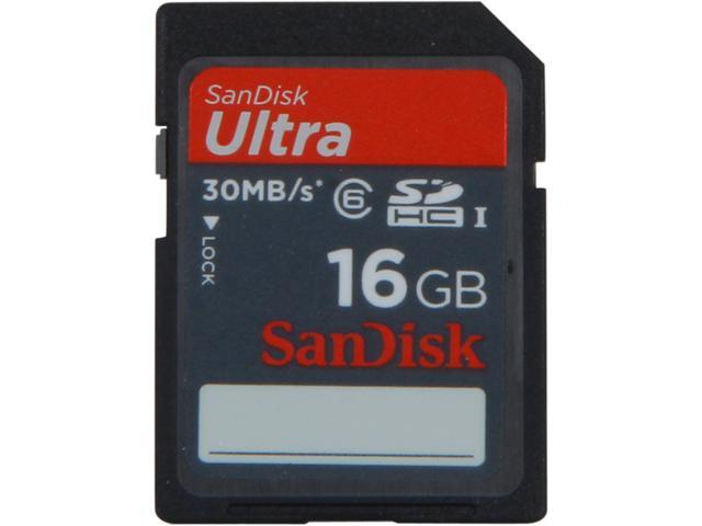SanDisk Ultra 16 GB Secure Digital High Capacity (SDHC) - 1 Card