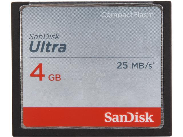 SanDisk Ultra 4GB Compact Flash (CF) Flash Card Model SDCFHS-004G-A46