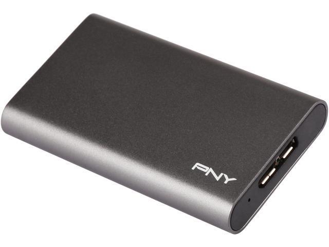 PNY ELITE 480GB USB 3.0 Portable Solid State Drive (SSD) - (PSD1CS1050-480-FFS)