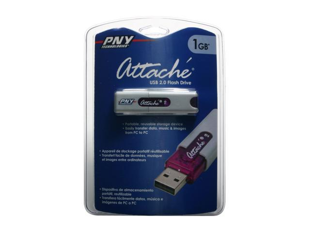 PNY Attaché 1GB Flash Drive (USB2.0 Portable) Model P-FD1GBU20-FS