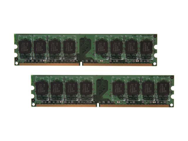 PNY 2GB (2 x 1GB) 240-Pin DDR2 SDRAM DDR2 667 (PC2 5300) Dual Channel Kit Desktop Memory Model MD2048KD2-667