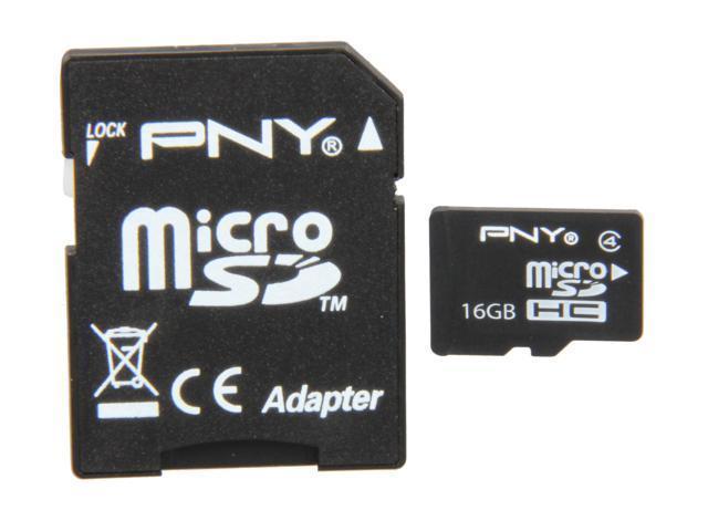 PNY 16GB microSDHC Flash Card Model P-SDU16G4-EFS2