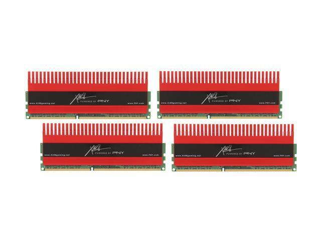 PNY XLR8 16GB (4 x 4GB) 240-Pin DDR3 SDRAM DDR3 2133 (PC3 17000) Desktop Memory Model MD16384K4D3-2133-X10