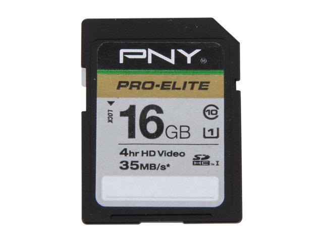 PNY 16GB Secure Digital High-Capacity (SDHC) Flash Card Model P-SDH16U1-GES3