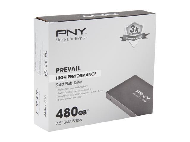 """PNY Prevail 2.5"""" 480GB SATA III Internal Solid State Drive (SSD) SSD9SC480GCDA-PB"""