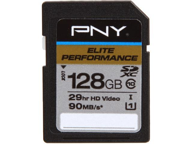 PNY Elite Performance 128GB Secure Digital Extended Capacity (SDXC) Flash Card Model P-SDX128U1H-GE