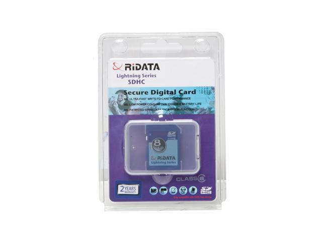 RiDATA Lightning Series 8GB Secure Digital High-Capacity (SDHC) Flash Card Model RDSDHC8G-LIG6