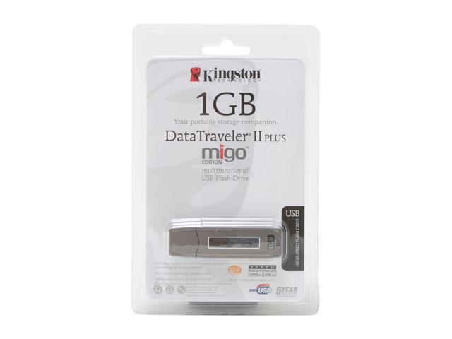 Kingston DataTraveler II Plus - Migo Edition 1GB Flash Drive (USB2.0 Portable) Model DTII+M/1GB