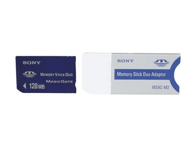 SONY 128MB Memory Stick Duo (MS Duo) Flash Card Model MSH-M128A