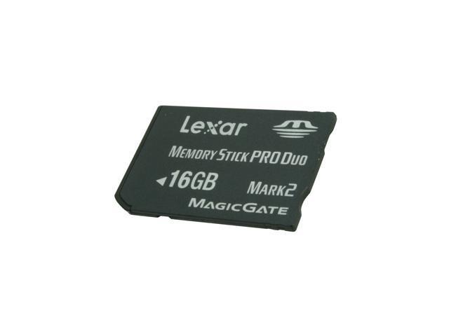 Lexar Platinum II 16GB Memory Stick Pro Duo (MS Pro Duo) Flash Card Model LMSPD16GBSBNA