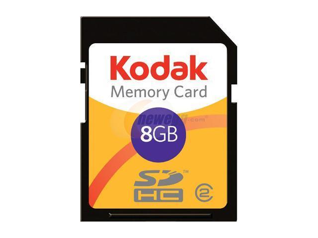 Lexar Kodak 8GB Secure Digital High-Capacity (SDHC) Flash Card Model KSD8GBPSBNA