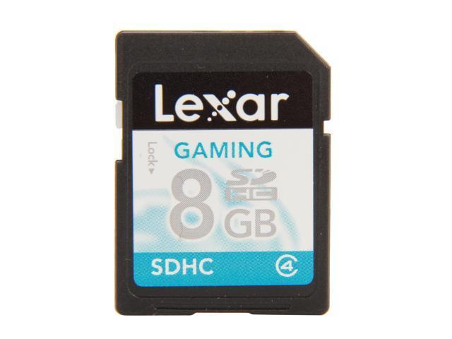 Lexar Gaming 8GB Secure Digital High-Capacity (SDHC) Flash Card Model LSD8GBGSBNA
