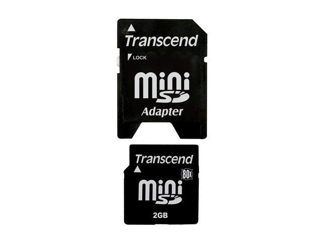 Transcend 2GB MiniSD Flash Card Model TS2GSDM80