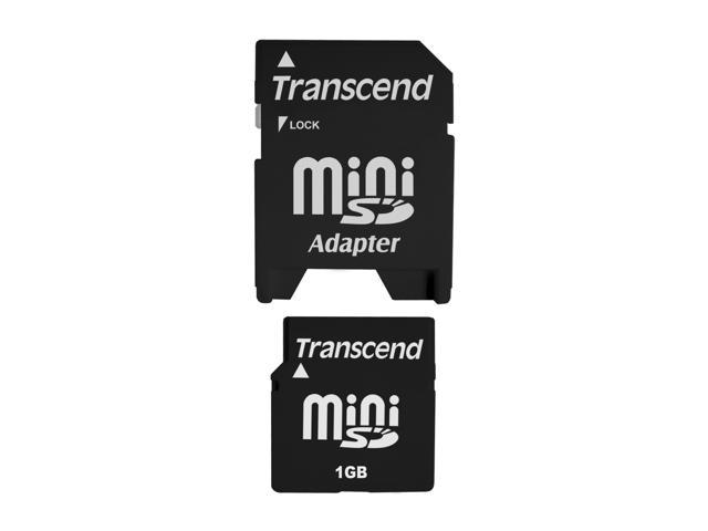 Transcend 1GB MiniSD Flash Card Model TS1GSDM