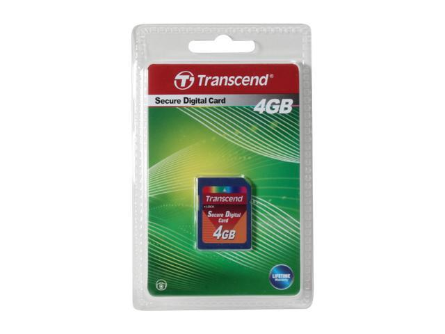 Transcend 4GB Secure Digital (SD) Flash Card Model TS4GSDC