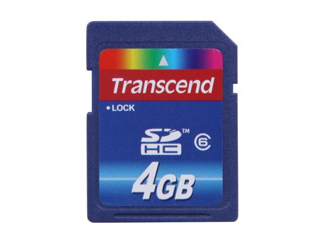 Transcend 4GB Secure Digital high-Capacity(SDHC) Class 6 Flash card Model TS4GSDHC6