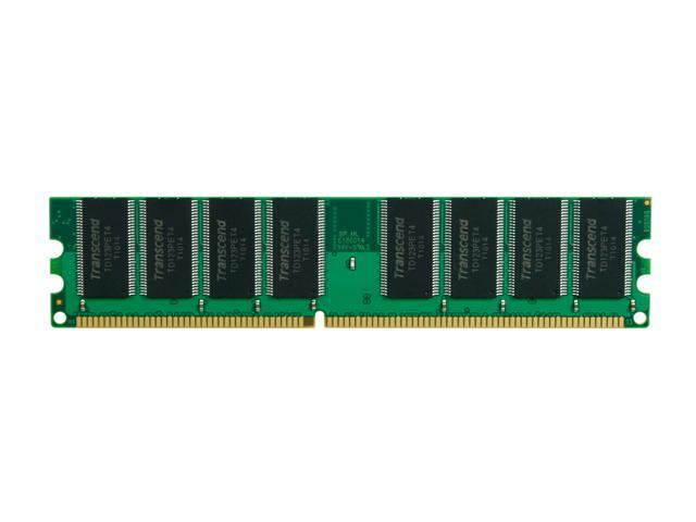 Transcend 1GB 184-Pin DDR SDRAM DDR 400 (PC 3200) Desktop Memory Model JM388D643A-5L