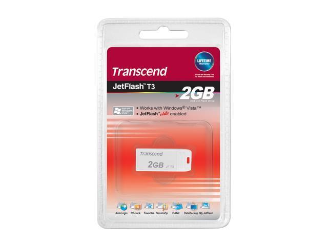 Transcend JetFlash T3 2GB Flash Drive (USB2.0 Portable) Model TS2GJFT3W