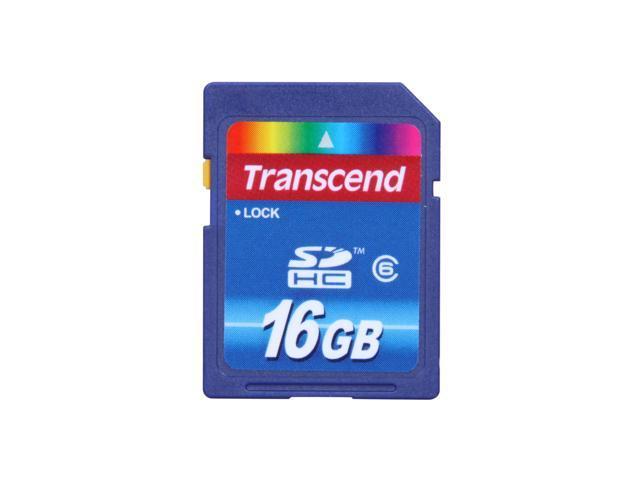Transcend 16GB Secure Digital High-Capacity (SDHC) Flash Card Model TS16GSDHC6