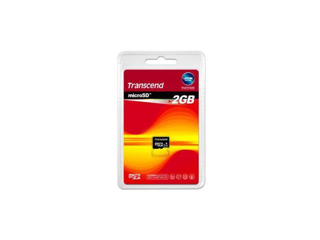 Transcend 2GB MicroSD Flash Card - Card Only Model TS2GUSDC