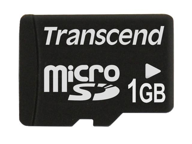 Transcend 1GB MicroSD Flash Card - Card Only Model TS1GUSDC