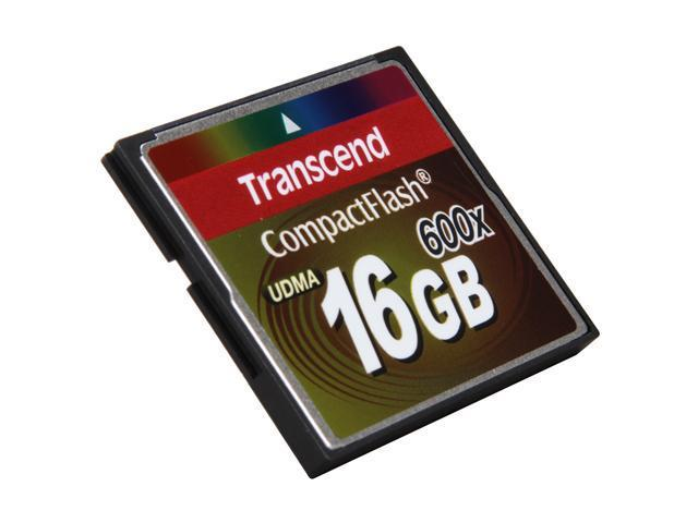 Transcend 16GB Compact Flash (CF) Flash Card Model TS16GCF600