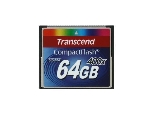 Transcend 64GB Compact Flash (CF) 400X Flash Card Model TS64GCF400