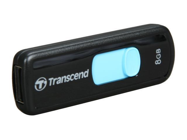 Transcend JetFlash 500 8GB USB 2.0 Flash Drive (Blue) Model TS8GJF500