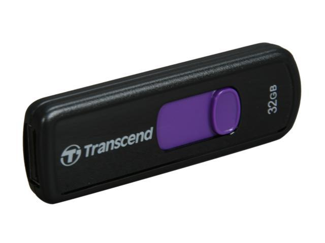 Transcend JetFlash 500 32GB USB 2.0 Flash Drive (Purple)