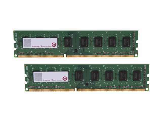 Transcend 8GB (2 x 4GB) 240-Pin DDR3 SDRAM DDR3 1333 Desktop Memory Model JM1333KLN-8GK