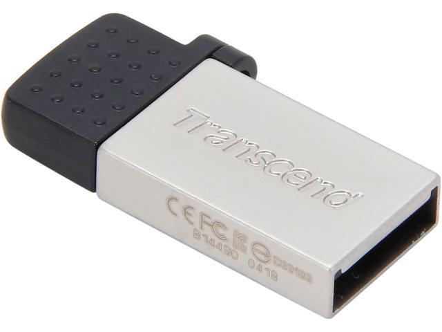 Transcend JetFlash 380 32GB USB 2.0 OTG Flash Drive Model TS32GJF380S