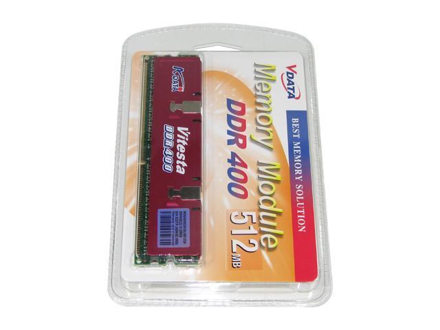 ADATA 512MB 184-Pin DDR SDRAM DDR 400 (PC 3200) Desktop Memory Model ADBGB1916