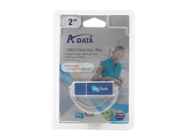 ADATA PD4 2GB Flash Drive (USB2.0 Portable) Model PD4 2.0 2G Blue