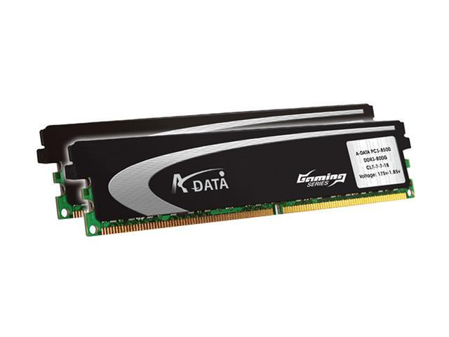 ADATA 2GB (2 x 1GB) 240-Pin DDR2 SDRAM DDR2 800 (PC2 6400) Dual Channel Kit Desktop Memory Model AX2U800GB1G5-AG
