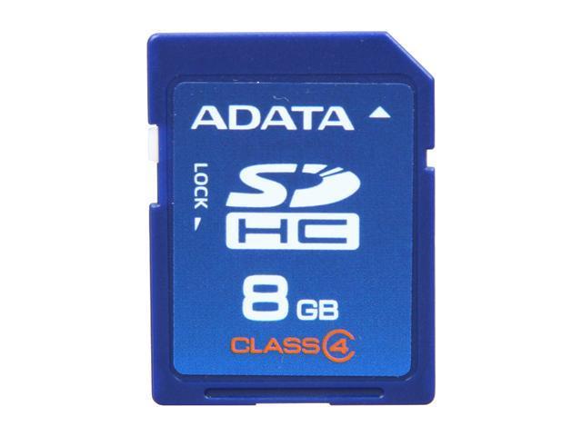 ADATA 8GB Class 4 Secure Digital High-Capacity (SDHC) Flash Card Model ASDH8GCL4-R
