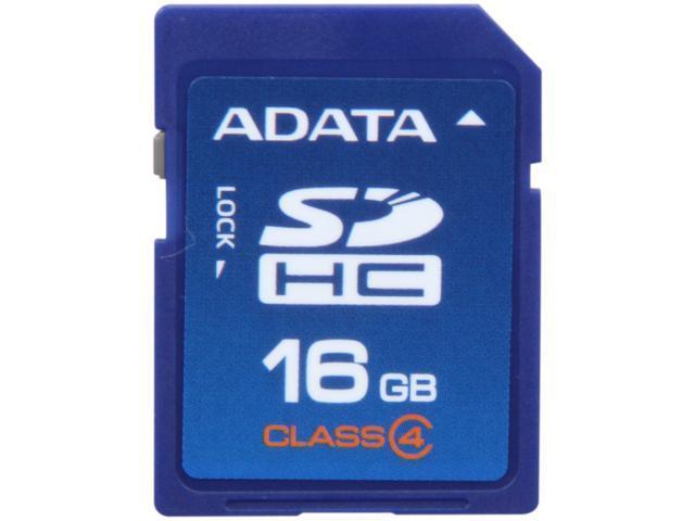 ADATA 16GB Class 4 Secure Digital High-Capacity (SDHC) Flash Card Model ASDH16GCL4-R